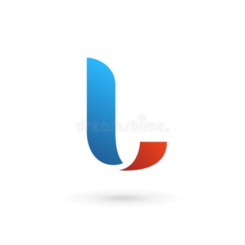 Letter L logo icon design template elements royalty free illustration