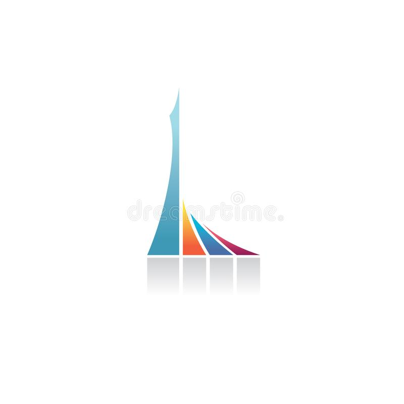 Letter L logo stock illustration
