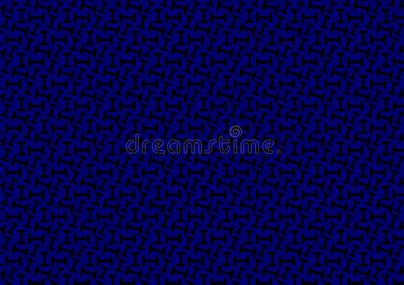 Letter I pattern in different blue colored shades for wallpaper. Use and backgrounds, alphabet, backdrop, black, capital, colour, dark, design, directions stock illustration