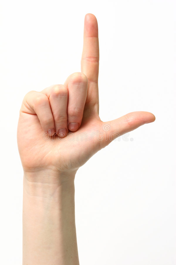 Free Letter L - Sign Language Royalty Free Stock Photography - 4555147