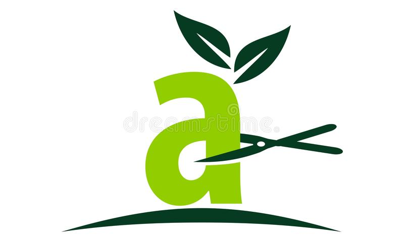 Letter A Lawn vector illustration