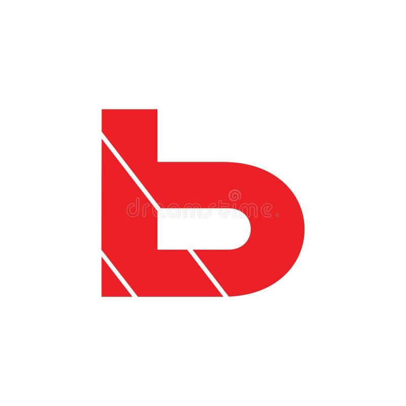 Letter lb simple geometric logo vector stock image