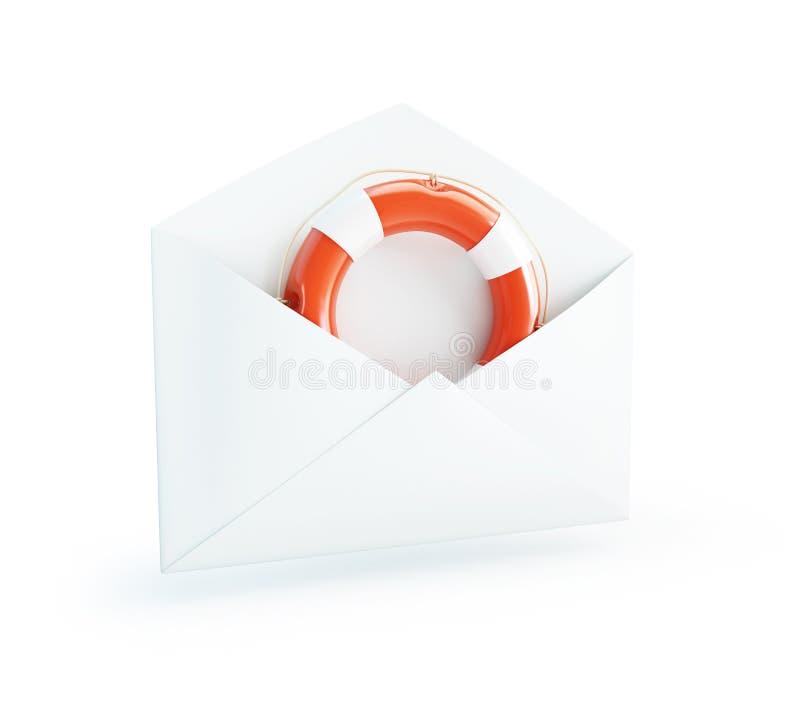 Download Letter Life Buoy stock illustration. Image of mail, postage - 28589125