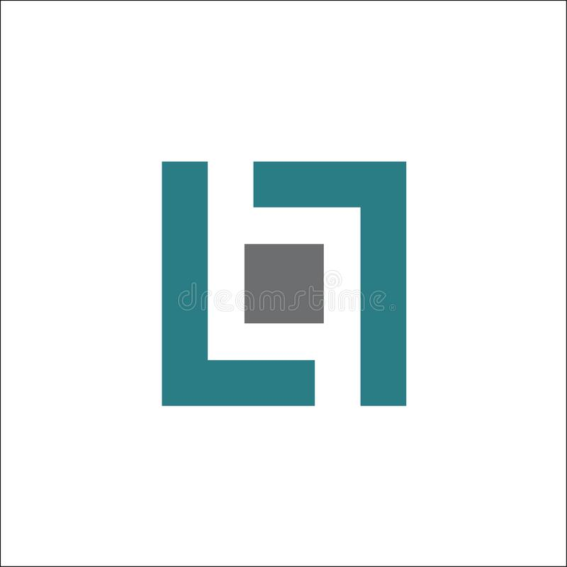Letter LL Square Logo vector Design Template Element stock illustration