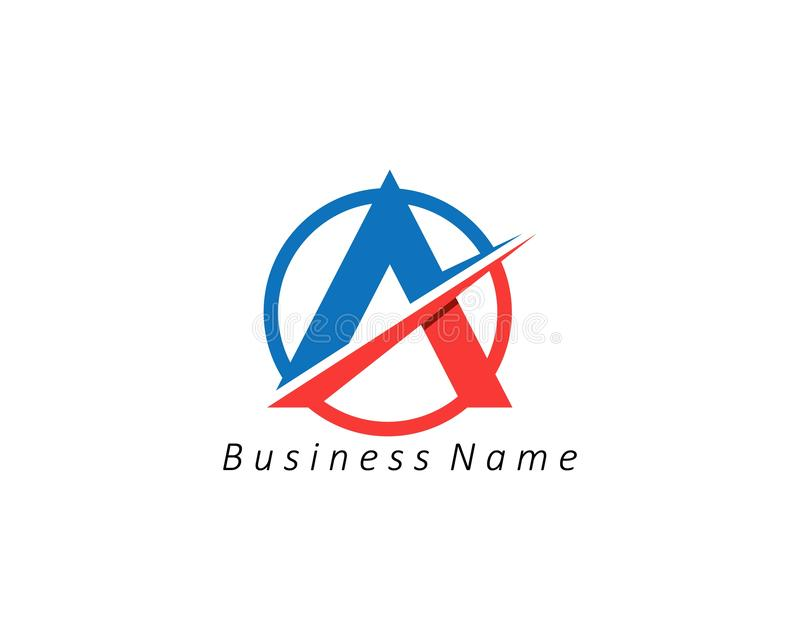 A Letter Logo Business Template Vector icon. A Letter Logo Business Template Vector icon abc accurate achieved advertising alphabet arrows attorney best center vector illustration