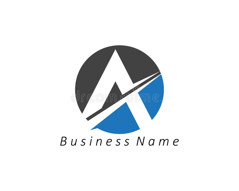 A Letter Logo Business Template Vector icon. A Letter Logo Business Template Vector icon abc accurate achieved advertising alphabet arrows attorney best center royalty free illustration