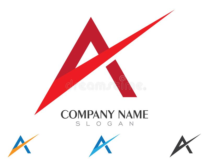 A Letter Logo. Business Template Vector icon stock photo