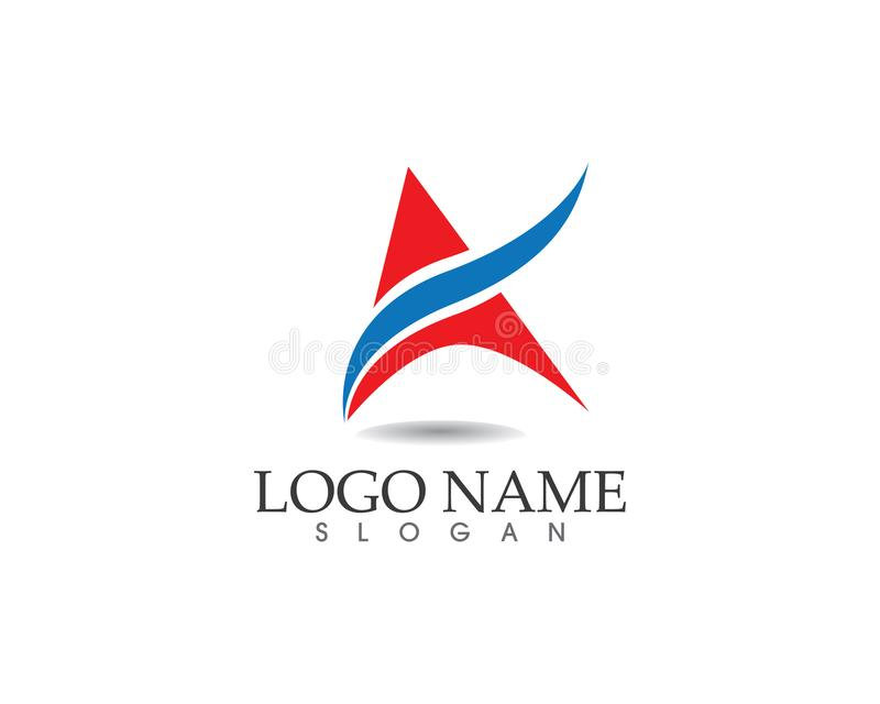 A Letter Logo Business Template Vector icon vector illustration