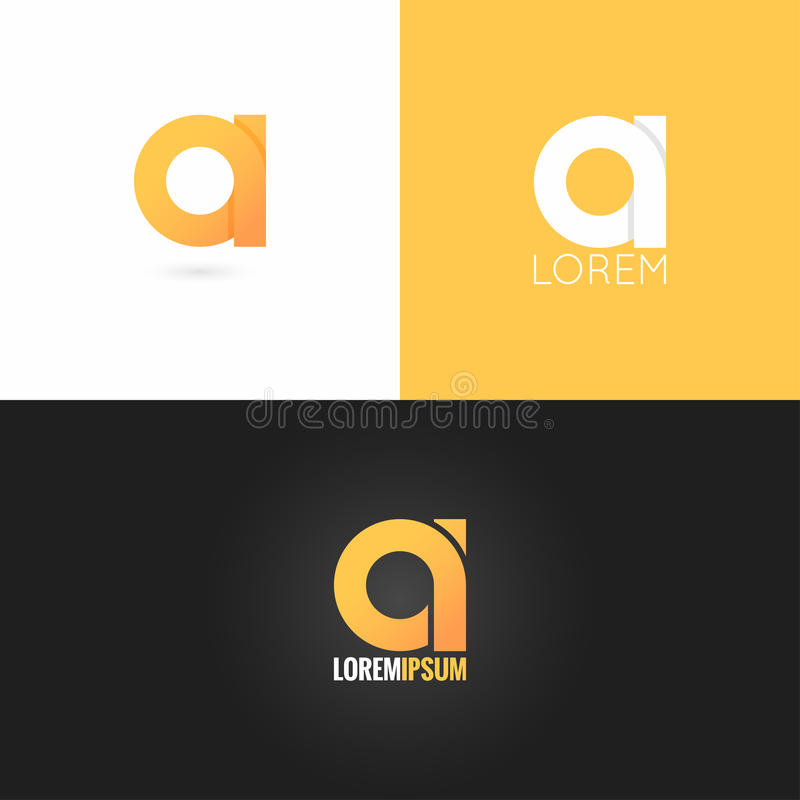 Letter logo design icon set background. 10 eps vector illustration