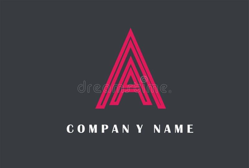 A Letter Logo Design. Line Typography Vector Illustration. A Letter Logo Design. Line Typography Vector Illustration isolated on simple background royalty free illustration