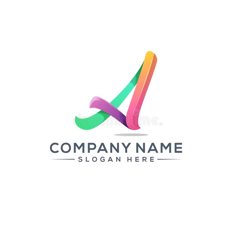 Letter A logo design for your company vector illustration