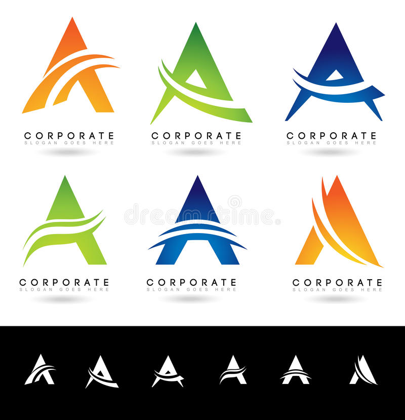 Download Letter A Logo Designs Stock Vector Illustration Of Abstract