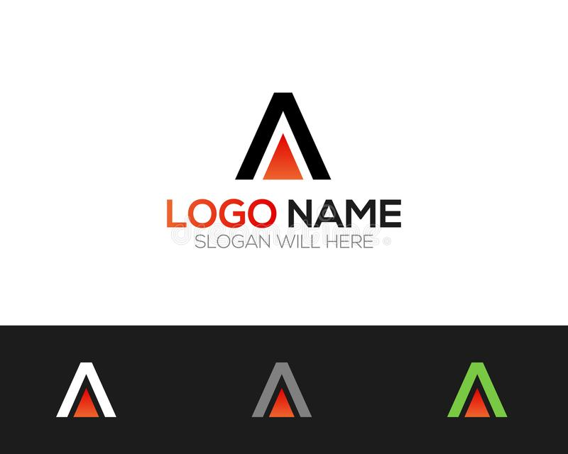 A Letter Logo Template online store vectors illustration. This is very easy to use. U ca Use as your won simply stock illustration