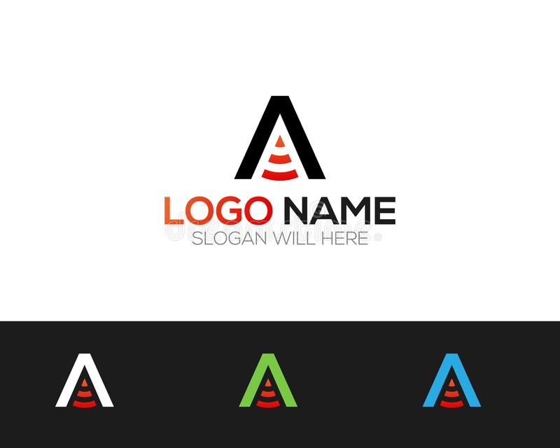 A Letter Logo Template online store vectors illustration. This is very easy to use. U ca Use as your won simply vector illustration