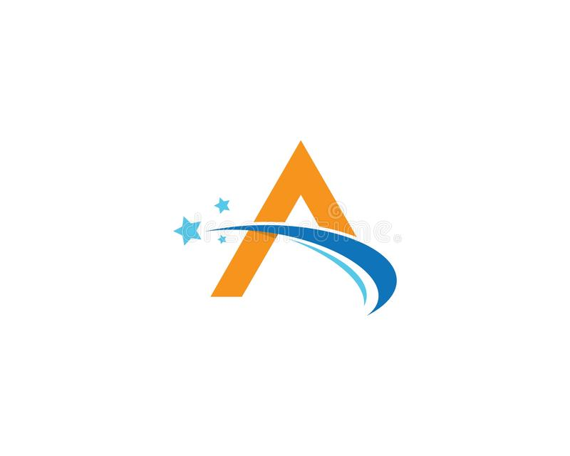A letter logo vector icon royalty free illustration