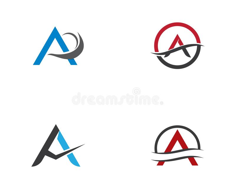 A letter logo vector icon stock illustration