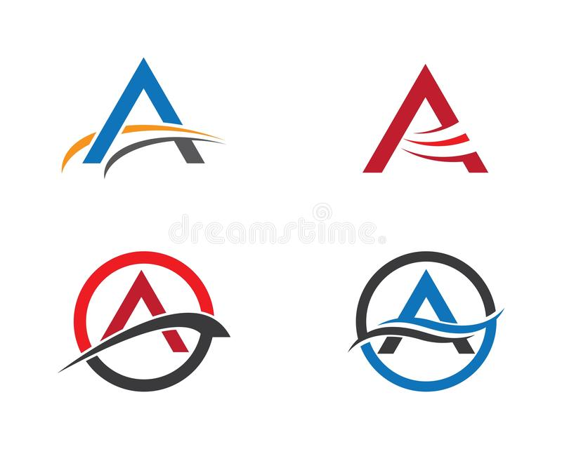 A letter logo vector icon illustration. Design, corporate, abstract, symbol, font, abc, accurate, achieved, advertising, alphabet, arrows, attorney, best stock illustration