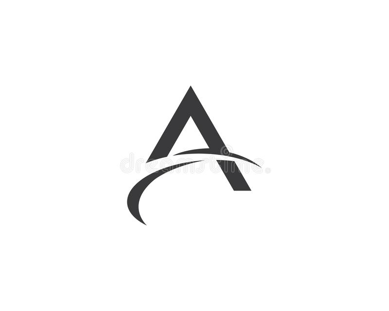 A letter logo vector icon illustration. Design, corporate, abstract, symbol, font, abc, accurate, achieved, advertising, alphabet, arrows, attorney, best royalty free illustration