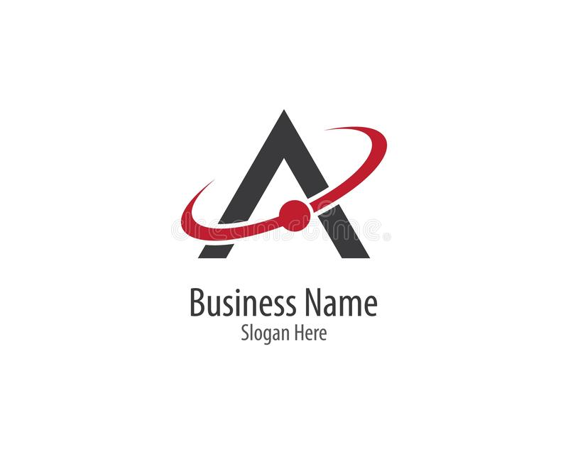 A letter logo vector royalty free illustration