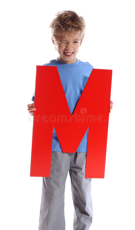 Letter M royalty free stock photo