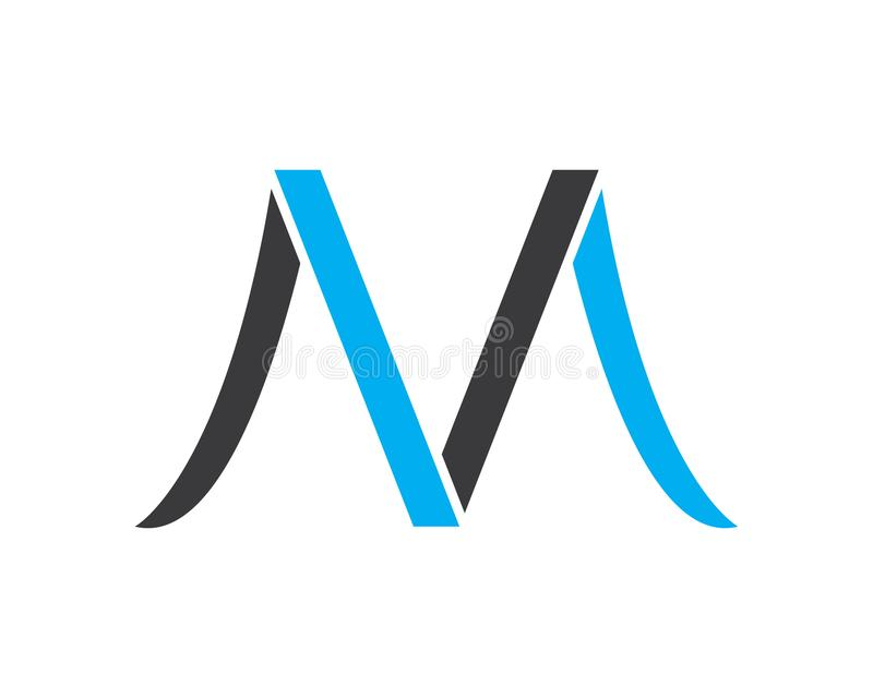 Letter M icons such logos.  royalty free illustration