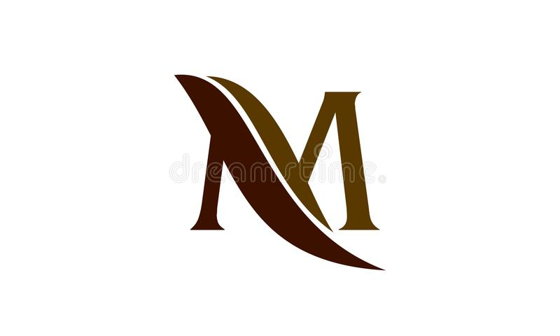 Letter M Leaf royalty free illustration