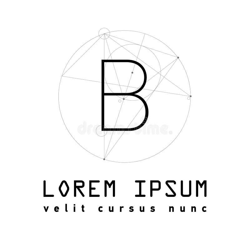 Letter M Logo . Alphabet design royalty free illustration