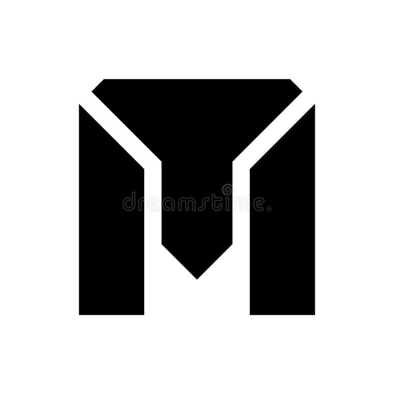 Flat M Letter logo vector stock illustration