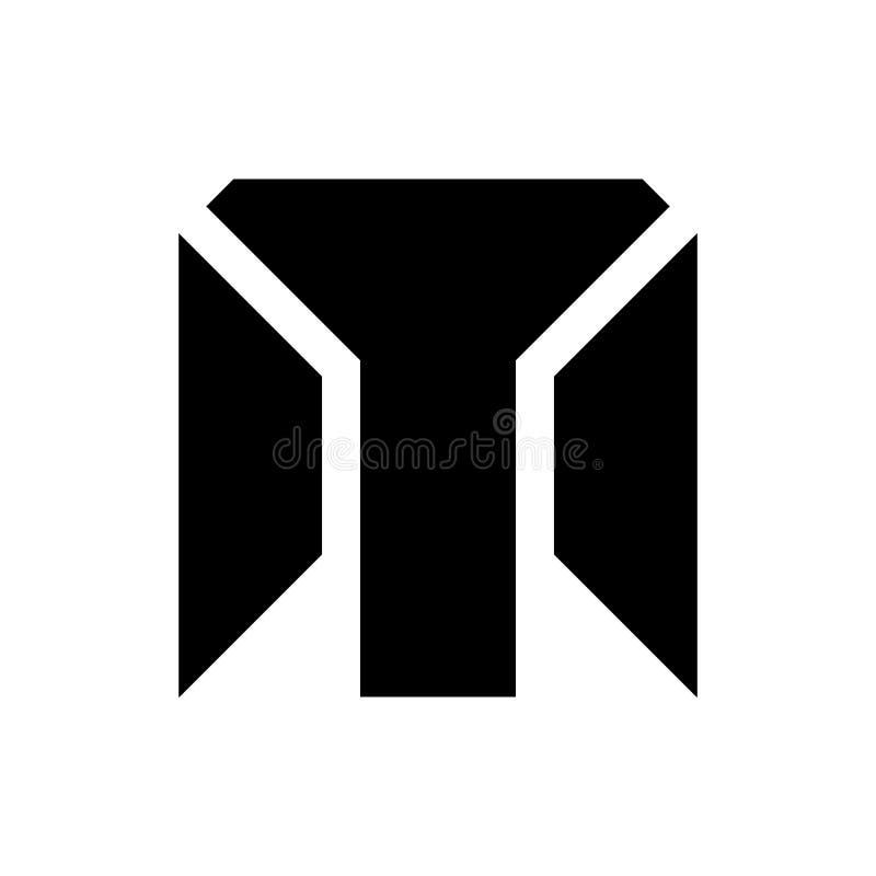 Flat M Letter logo vector royalty free illustration