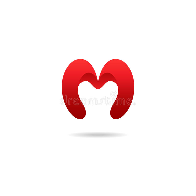 Letter M Logo Design Template In Red Colors Vector Logotype Stock Rh Dreamstime Com
