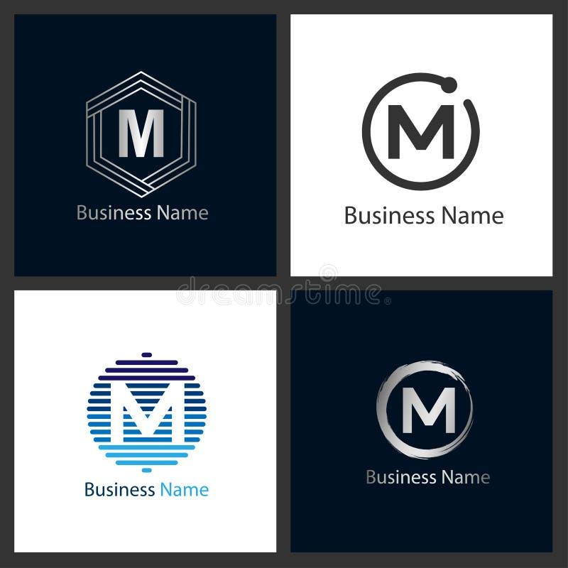 Letter M Logo Set stock illustration