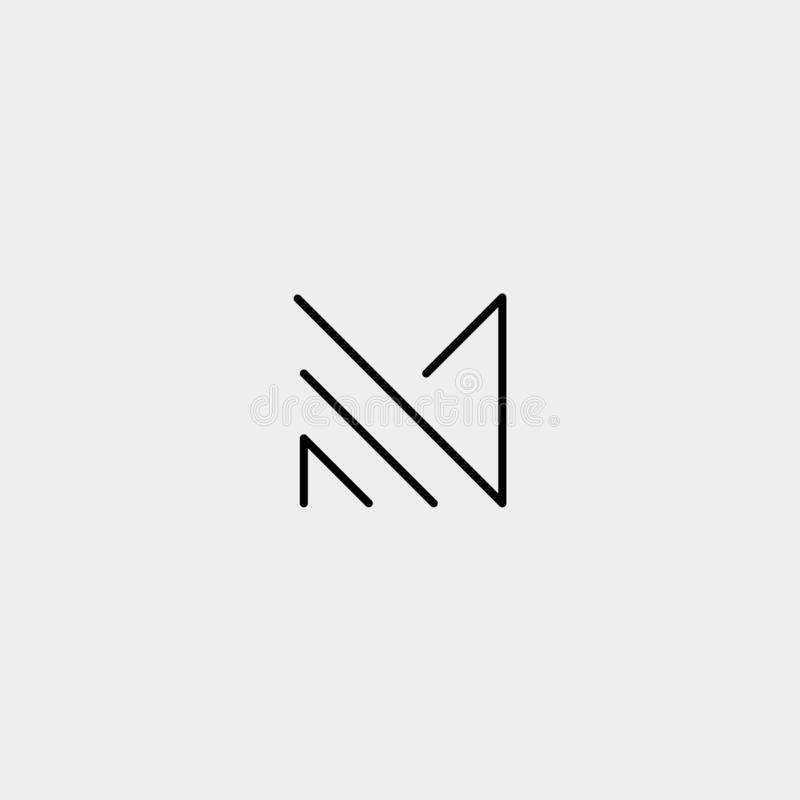 Letter M MM Monogram Logo Design Minimal. Icon With Black Color, simple, fashion, badge, vector, emblem, line, thin, graphic, beauty, symbol, vintage, element vector illustration