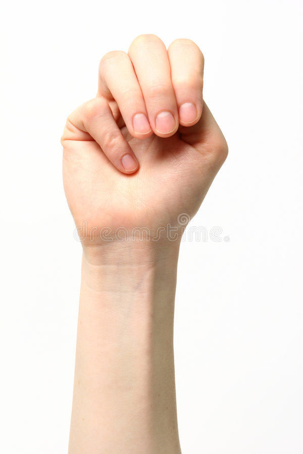 Letter M - Sign Language royalty free stock photos