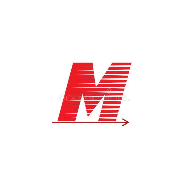 Letter m speed arrow design logo stock illustration