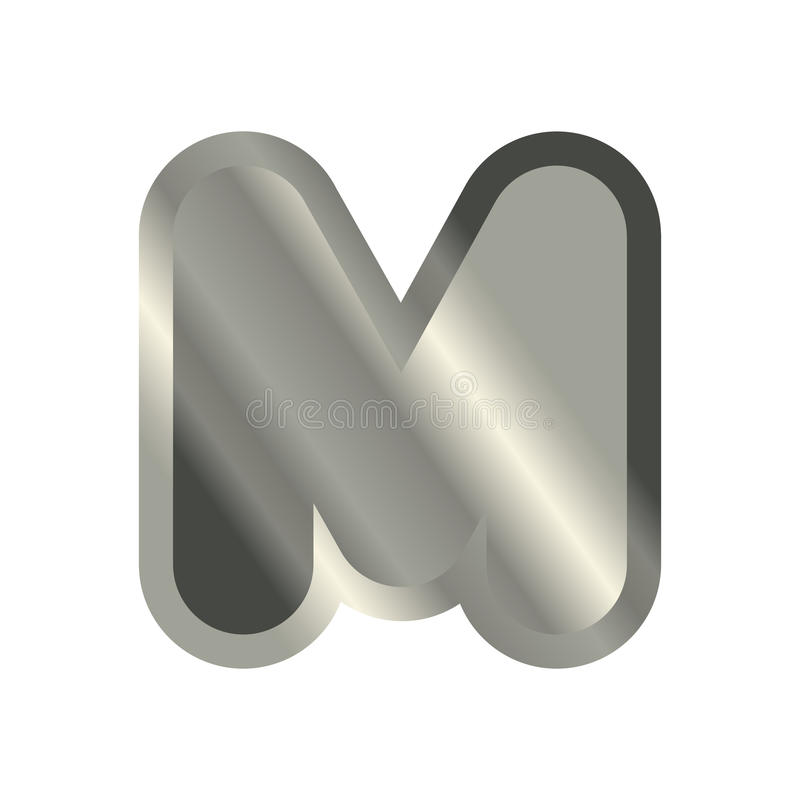 Letter M Steel Font Metal Alphabet Sign Iron Abc Symbol Chrom