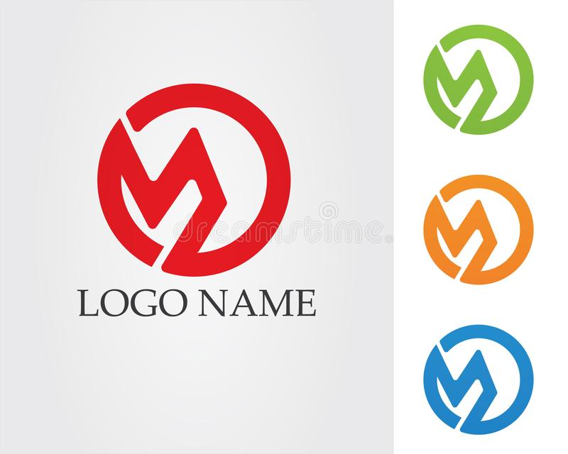 Letter M vector icons such logos template.  stock illustration