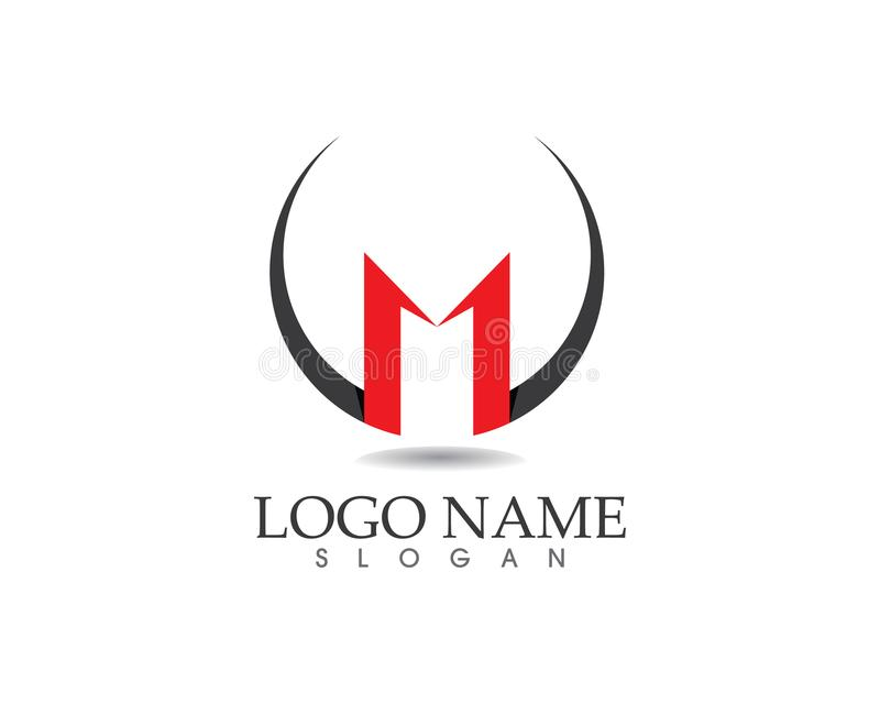 Letter M vector icons such logos template.  vector illustration