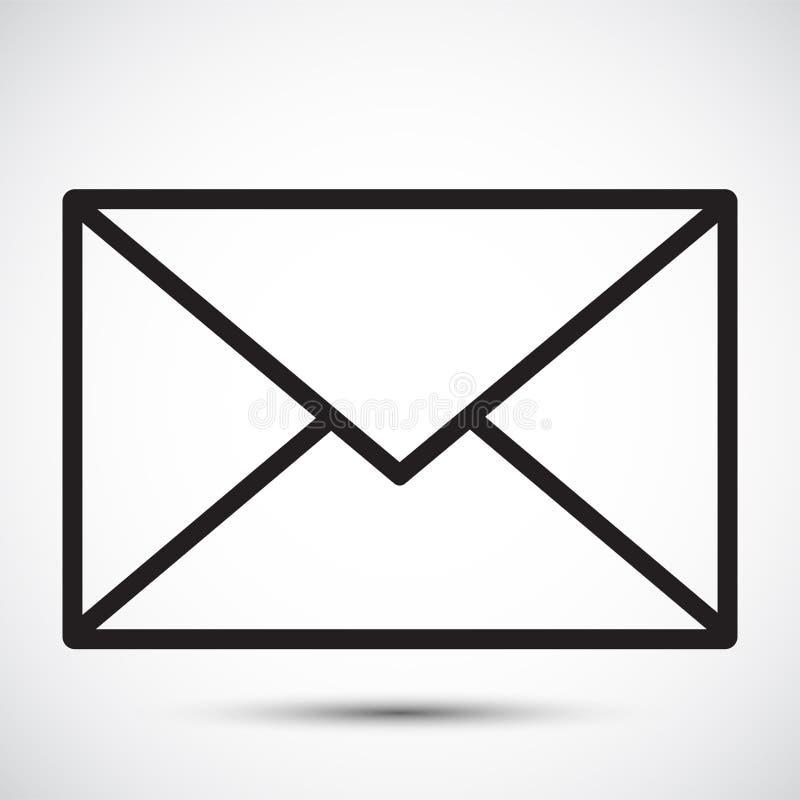 Letter,Mail icon Symbol Sign Isolate on White Background,Vector Illustration EPS.10 stock illustration