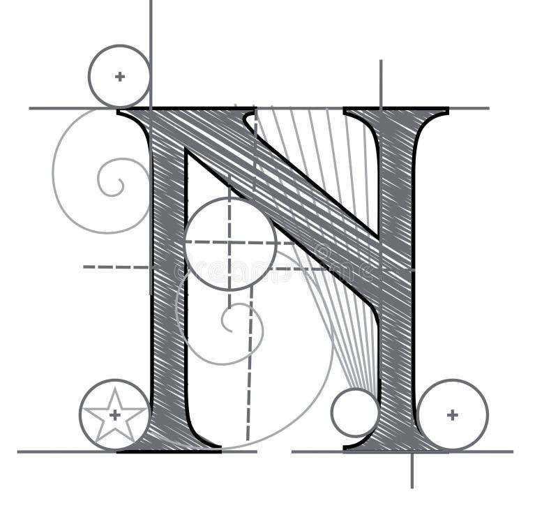 Download Letter N stock illustration. Illustration of designer - 7690551