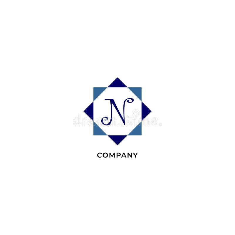 Letter N Alphabetic Logo Design Template, Development company Logo Concept иллюстрация вектора