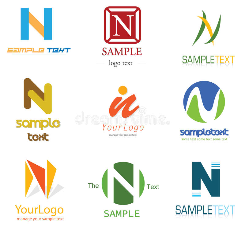 Letter N Logo. Alphabetical Logo Design Concepts. Letter N stock illustration