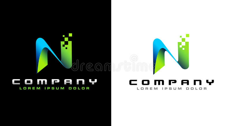 Letter N Logo vector illustration