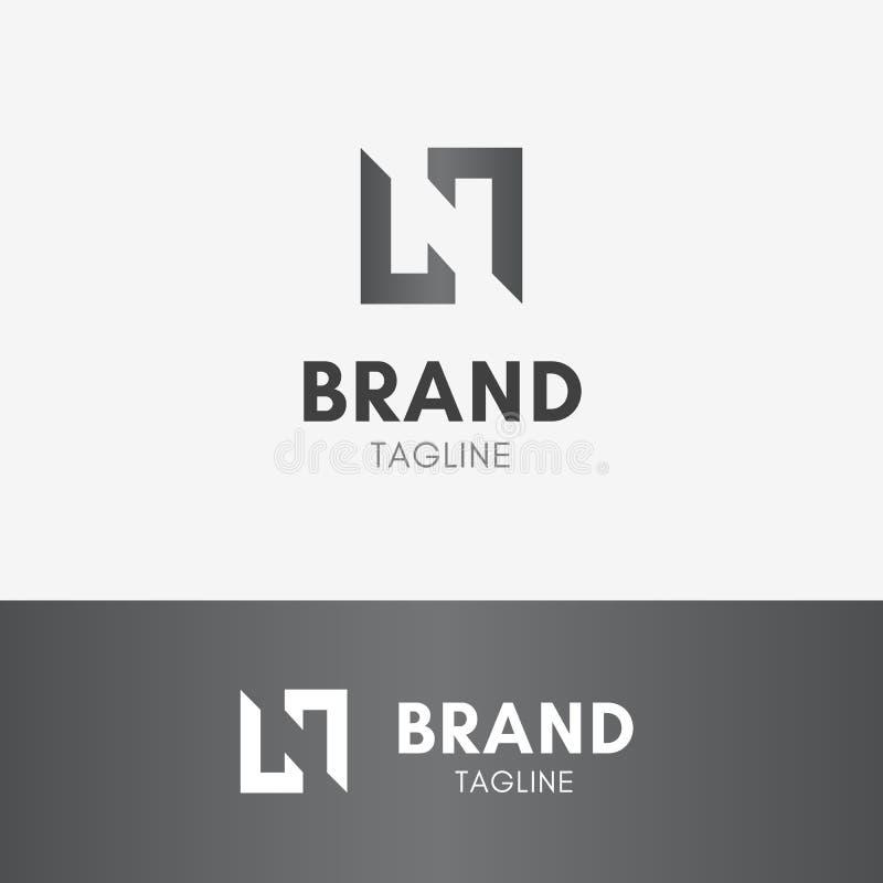 Letter N Negative Space Logo Stock Vector Illustration Of Business