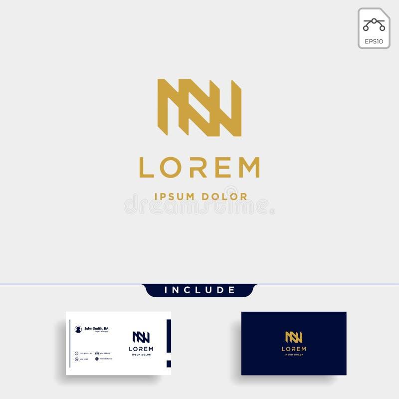 Letter N NN Monogram Logo Design Minimal Icon. With Black Color, simple, line, badge, vector, initial, emblem, graphic, symbol, vintage, element, outline, set vector illustration