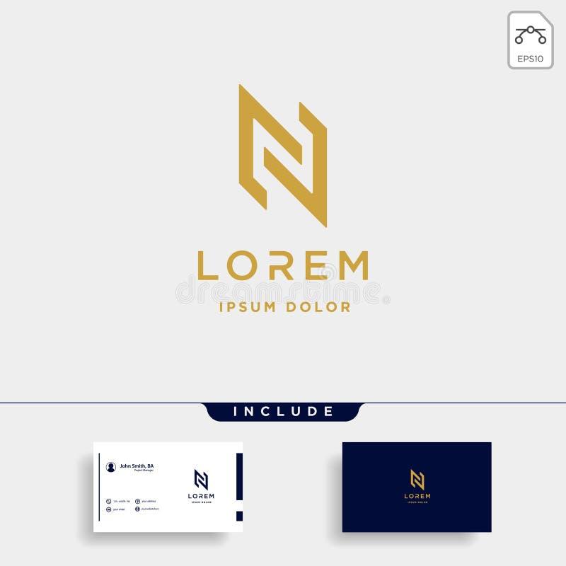 Letter N NN Monogram Logo Design Minimal Icon. With Black Color, simple, line, badge, vector, initial, emblem, graphic, symbol, vintage, element, outline, set royalty free illustration