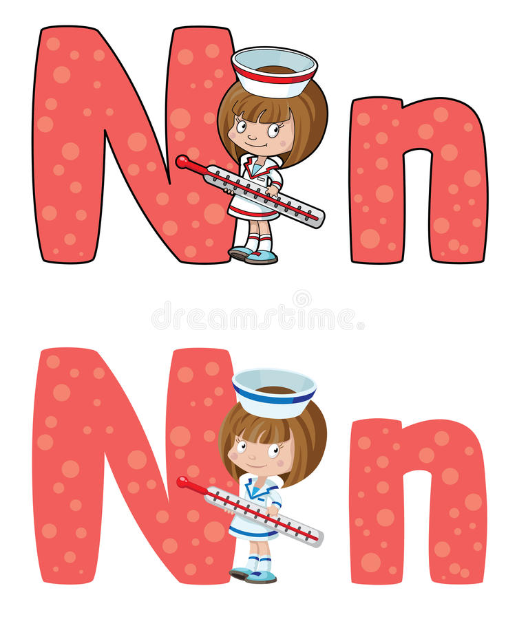 Download Letter N nurse stock vector. Illustration of work, cartoon - 26546475