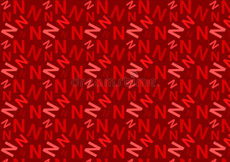 Letter N pattern in different colored red shades for wallpaper royalty free stock photo