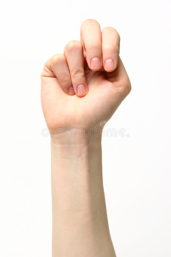 Letter N - Sign Language royalty free stock images