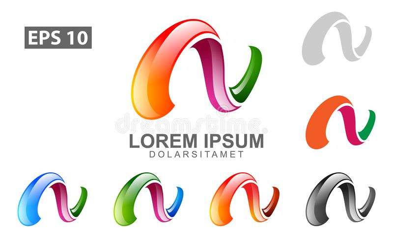 Abstract letter n vector logo design with unique glossy style for download abstract letter n vector logo design with unique glossy style for typographic your business stock reheart Images