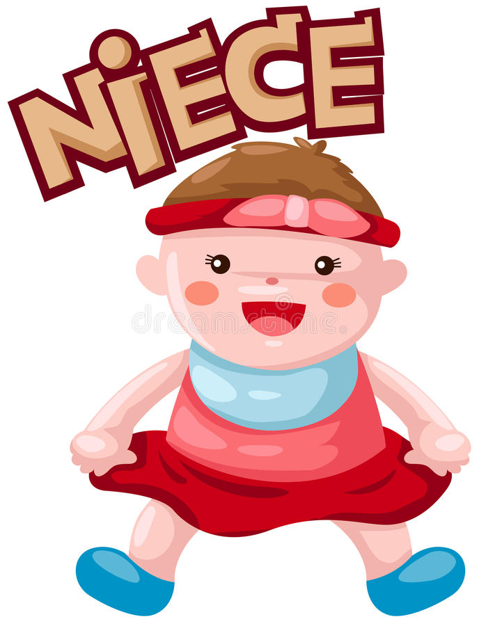 Free Birthday Clipart For Niece ~ Letter of niece stock vector illustration character